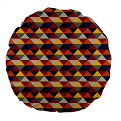 Native American Pattern 16 Large 18  Premium Flano Round Cushions by Cveti