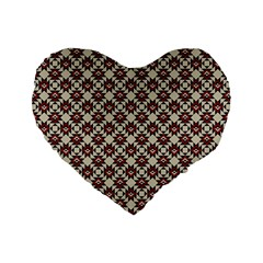 Native American Pattern 18 Standard 16  Premium Flano Heart Shape Cushions by Cveti