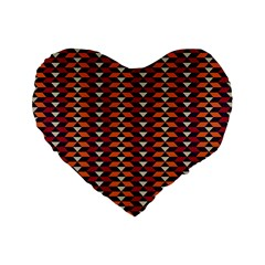 Native American Pattern 19 Standard 16  Premium Flano Heart Shape Cushions by Cveti