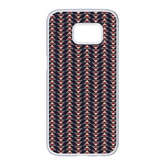 Native American Pattern 20 Samsung Galaxy S7 Edge White Seamless Case by Cveti