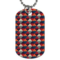 Native American Pattern 21 Dog Tag (two Sides) by Cveti