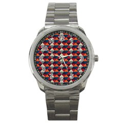 Native American Pattern 21 Sport Metal Watch by Cveti