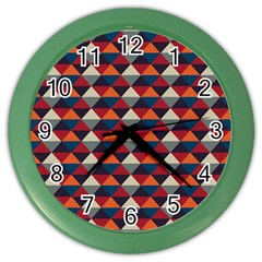 Native American Pattern 21 Color Wall Clocks by Cveti