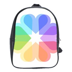 Heart Love Wedding Valentine Day School Bag (xl)