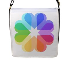 Heart Love Wedding Valentine Day Flap Messenger Bag (l)  by Celenk
