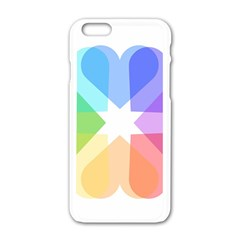 Heart Love Wedding Valentine Day Apple Iphone 6/6s White Enamel Case by Celenk