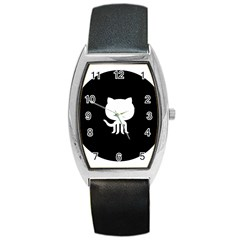 Logo Icon Github Barrel Style Metal Watch by Celenk