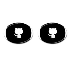 Logo Icon Github Cufflinks (oval) by Celenk
