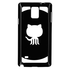 Logo Icon Github Samsung Galaxy Note 4 Case (black) by Celenk