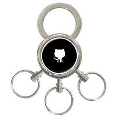 Logo Icon Github 3 Ring Key Chains by Celenk