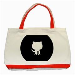 Logo Icon Github Classic Tote Bag (red) by Celenk