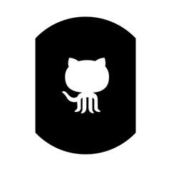 Logo Icon Github Shower Curtain 48  X 72  (small)  by Celenk