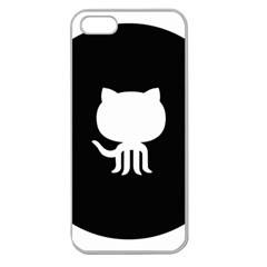 Logo Icon Github Apple Seamless Iphone 5 Case (clear) by Celenk