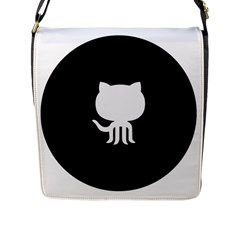 Logo Icon Github Flap Messenger Bag (l)  by Celenk