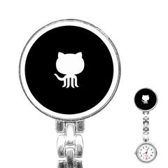 Logo Icon Github Stainless Steel Nurses Watch by Celenk