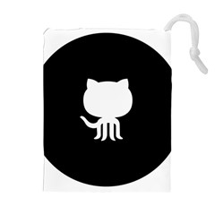 Logo Icon Github Drawstring Pouches (extra Large) by Celenk