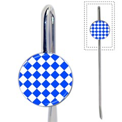 Blue White Diamonds Seamless Book Mark by Celenk