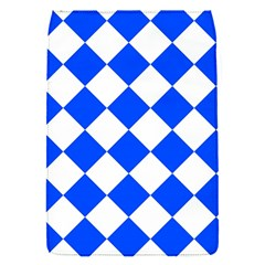 Blue White Diamonds Seamless Flap Covers (s)  by Celenk