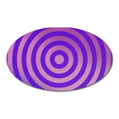 Circle Target Focus Concentric Oval Magnet by Celenk