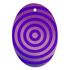Circle Target Focus Concentric Oval Ornament (two Sides) by Celenk