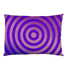 Circle Target Focus Concentric Pillow Case (two Sides)