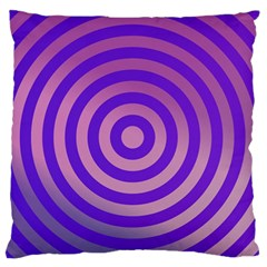 Circle Target Focus Concentric Standard Flano Cushion Case (one Side) by Celenk