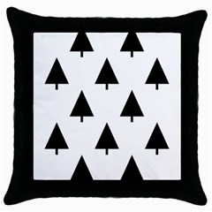 Scrap Background Spruce Christmas Throw Pillow Case (black) by Celenk
