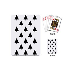 Scrap Background Spruce Christmas Playing Cards (mini)  by Celenk