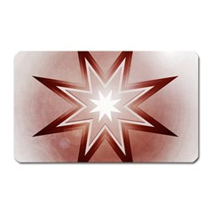 Star Christmas Festival Decoration Magnet (rectangular) by Celenk