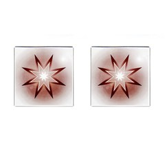 Star Christmas Festival Decoration Cufflinks (square) by Celenk