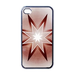 Star Christmas Festival Decoration Apple Iphone 4 Case (black)