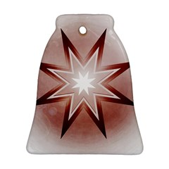 Star Christmas Festival Decoration Bell Ornament (two Sides) by Celenk