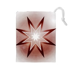 Star Christmas Festival Decoration Drawstring Pouches (large)  by Celenk