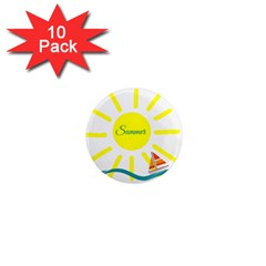 Summer Beach Holiday Holidays Sun 1  Mini Magnet (10 Pack)  by Celenk
