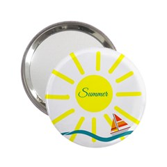 Summer Beach Holiday Holidays Sun 2 25  Handbag Mirrors by Celenk