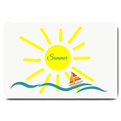 Summer Beach Holiday Holidays Sun Large Doormat  by Celenk