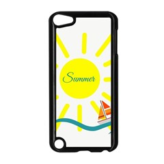 Summer Beach Holiday Holidays Sun Apple Ipod Touch 5 Case (black) by Celenk