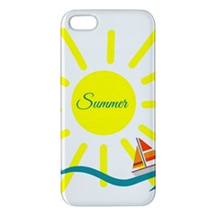 Summer Beach Holiday Holidays Sun Apple Iphone 5 Premium Hardshell Case by Celenk