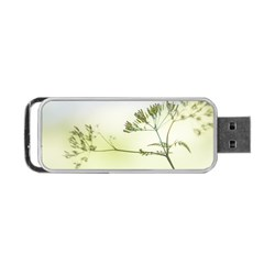 Spring Plant Nature Blue Green Portable Usb Flash (one Side) by Celenk