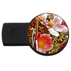 Flower Hostanamone Drawing Plant Usb Flash Drive Round (2 Gb) by Celenk