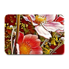 Flower Hostanamone Drawing Plant Plate Mats by Celenk