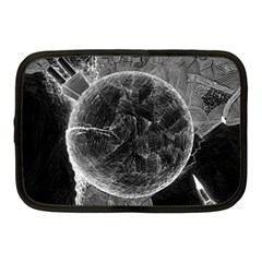 Space Universe Earth Rocket Netbook Case (medium)  by Celenk
