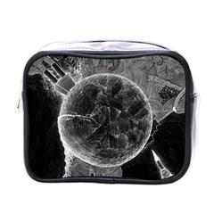 Space Universe Earth Rocket Mini Toiletries Bags by Celenk