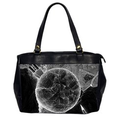 Space Universe Earth Rocket Office Handbags (2 Sides)  by Celenk