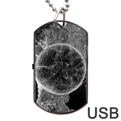 Space Universe Earth Rocket Dog Tag Usb Flash (one Side) by Celenk