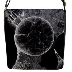Space Universe Earth Rocket Flap Messenger Bag (s) by Celenk