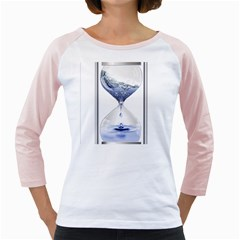 Time Water Movement Drop Of Water Girly Raglans by Celenk
