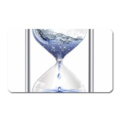 Time Water Movement Drop Of Water Magnet (rectangular) by Celenk