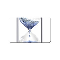 Time Water Movement Drop Of Water Magnet (name Card) by Celenk