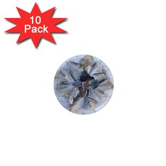 Winter Frost Ice Sheet Leaves 1  Mini Magnet (10 Pack)  by Celenk
